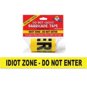 Idiot Zone Tape : JOKE SHOP AUSTRALIA