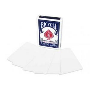 Bicycle Cards Blank Face and Back Deck : MAGIC SHOP AUSTRALIA