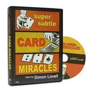 Super Subtle Card Miracles DVD : MAGIC SHOP AUSTRALIA