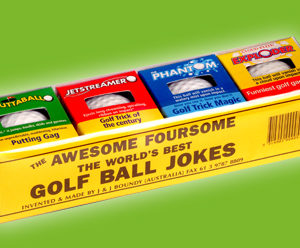 Gift Pack Trick Golf Balls : Joke Shop : Magic Shop Australia